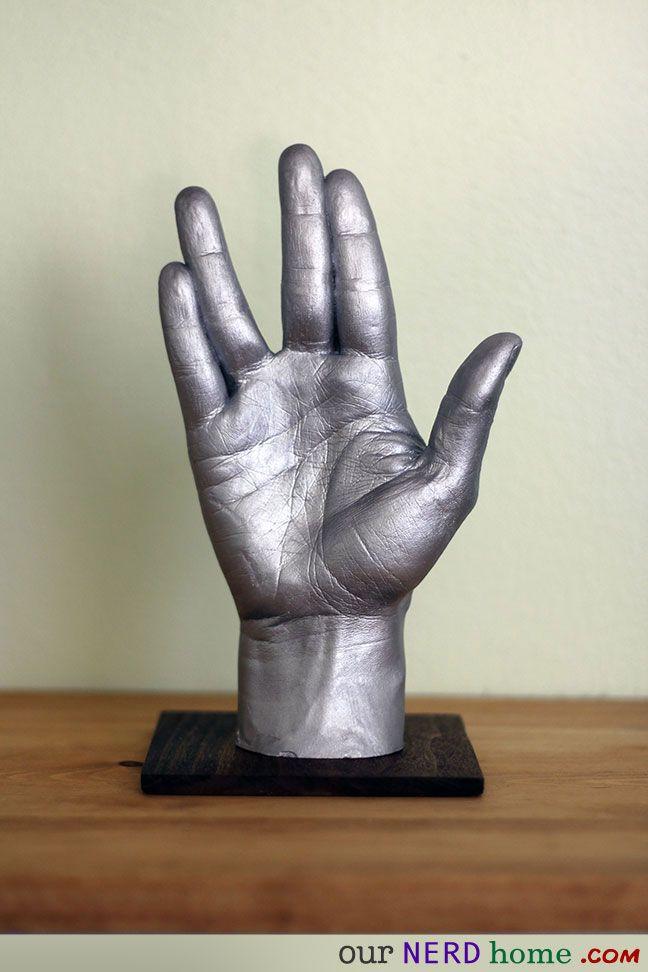 Our Nerd Home geek decor - DIY Star Trek hand