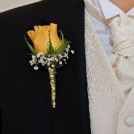 Cheerful Accent Boutonniere