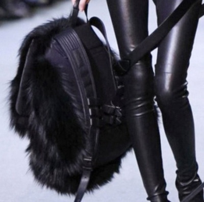 leather and fur texture Onyx