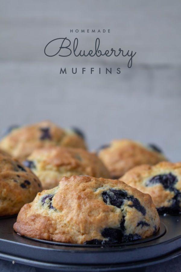 These Homemade Blueberry Muffins are practically perfect. Tender on the inside, they're loaded with fresh blueberries fo…