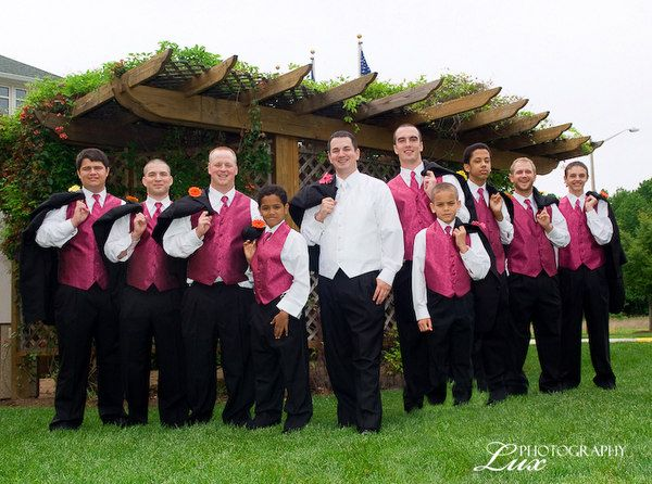 wedding ideas for groomsmen attire pink and black wedding ideas groomsmen with pink vests 28137