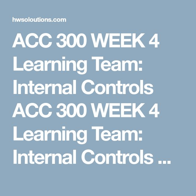 ACC 300 WEEK 4 Learning Team: Internal Controls ACC 300 WEEK 4 Learning Team: Internal Controls ACC 300 WEEK 4 Learning Team: Internal Controls Createa 12- to 16-slide presentation using the company you selected in Week 3.  Includethe following:  Describe the purpose of internal controls. Explain the importance of: Control Environment. Risk Assessment. Control Activities. Information and Communication. Monitoring. Preventative vs. detective controls. Explain common challenges encountered…