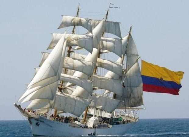 The ARC Gloria is a three-masted barque owned and used by the Colombian Navy as its training ship and main ambassador worldwide.
