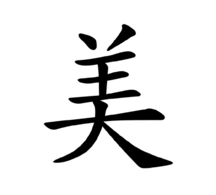 chinese symbol for beauty tattoos pinterest beauty