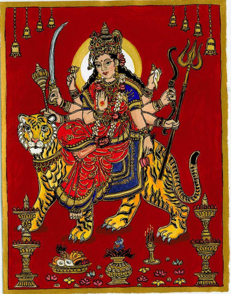 Godess Durga, riding a tiger, 2011 autumn, Navratri