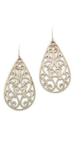 beautifully detailed drop earrings