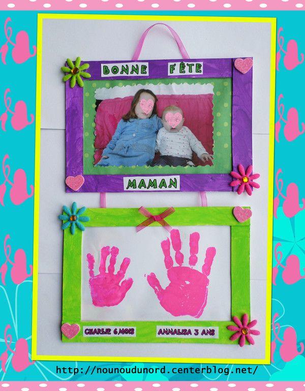 Cadre d'Annalisa et sa soeur Charlie pour la fête des mères, explications sur mon blog  .