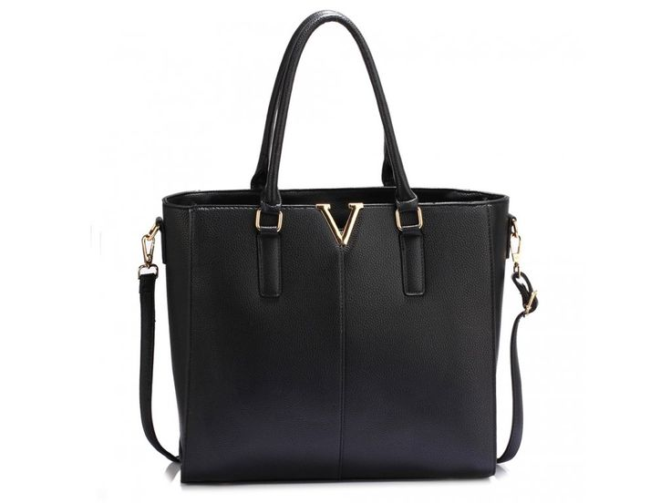 Čierna kabelka shopper Aggie AG00420