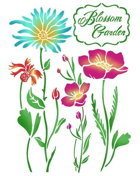 Трафарет для росписи Садовые цветы KSG366 купить, интернет магазин АртДекупаж