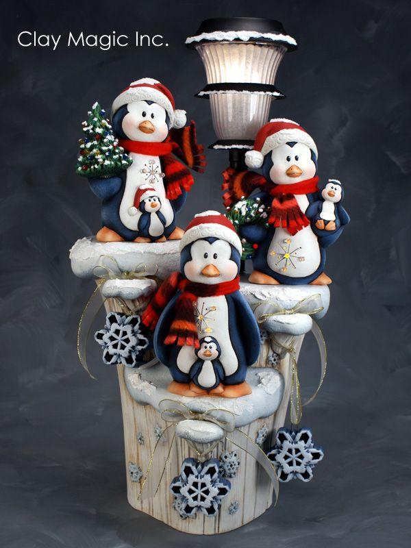 Penguin pinguino polymer clay porcelana fria pasta francesa masa flexible fimo gum paste pasta goma modelado figurine modelling topper biscuit