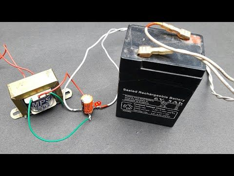 How To Make 6V Battery Charger At Home - YouTube