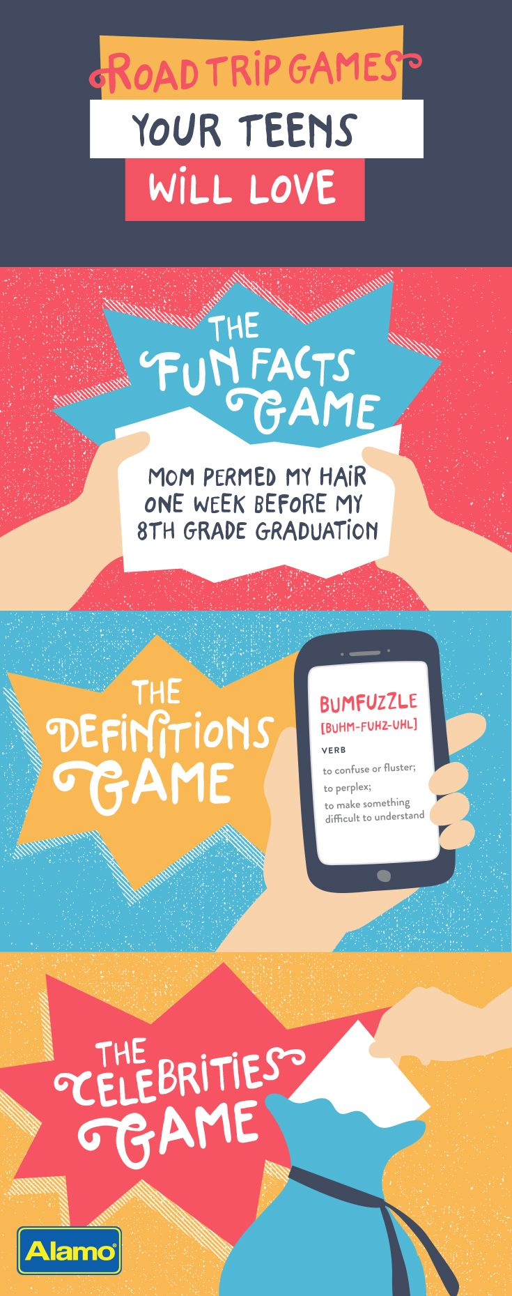 Do you have a road trip coming up? Make memories along the way with these three teen-friendly road trip games. They're so much fun your family may even forget they brought headphones.