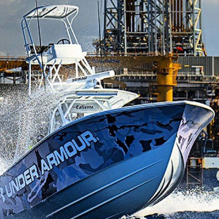 Yellowfin yachts under armour fishing team badass boat for Under armour fishing