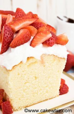 This CLASSIC SOUR CREAM POUND CAKE recipe is firm and dense but still very moist. Perfect for carving and cake decorating or just serving with whipped cream and fresh fruits! From cakewhiz.com