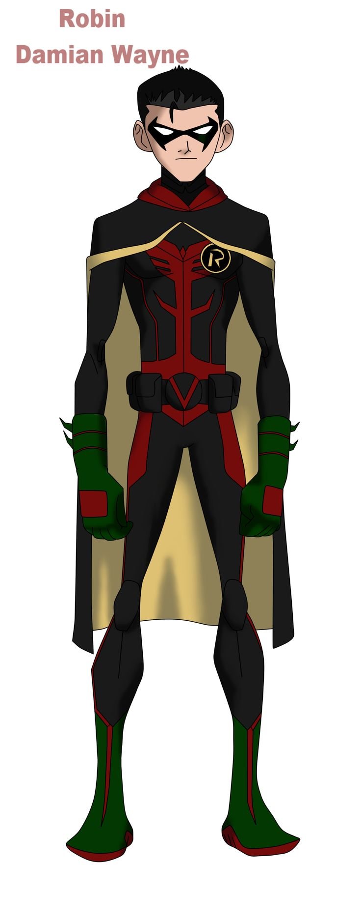 Damian Wayne Young Justice Concept by Bobkitty23 on deviantART