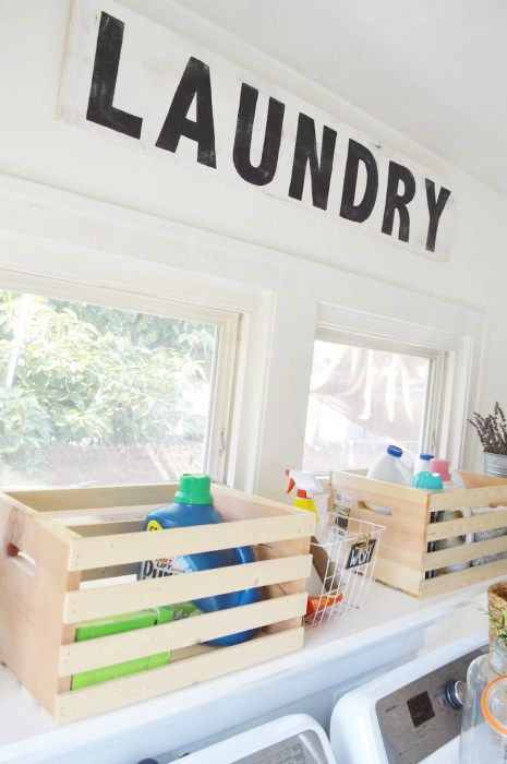 DIY Laundry Room Sign. Cheap and Easy DIY sign tutorial.