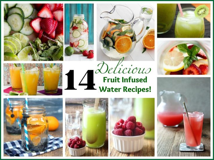 14 Delicious Fruit Infused Water Recipes! Take your water from boring to Fantastic! 1. Strawberry, Lemon, and Basil natashaskitchen.com A classic trifecta. Get the recipe. 2. Orange and Blueberry thepeachkitchen.com To fully fuse the flavors, combine the ingredients in a pitcher and let them sit for up to a day before drinking. Get the …