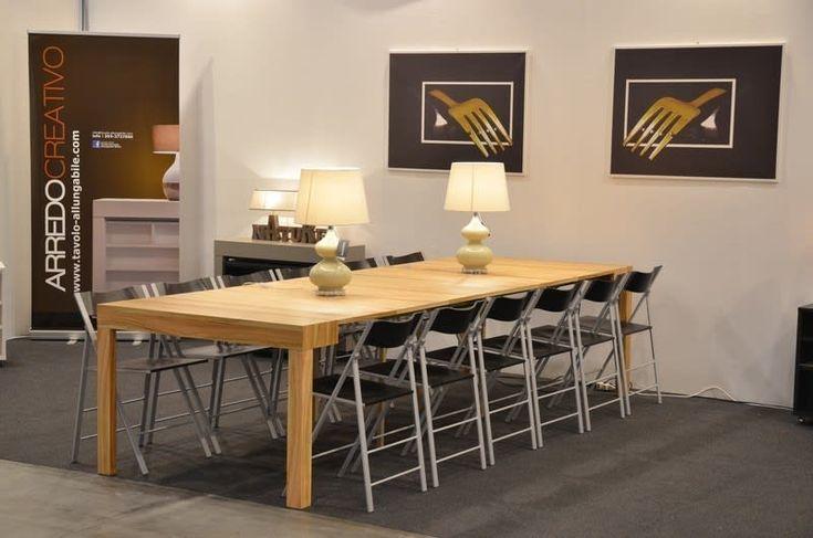 Tavolo consolle maya standard 110×50345 con mobile prolunghe zen, finitura ulivo: in stile di arredo creativo, moderno