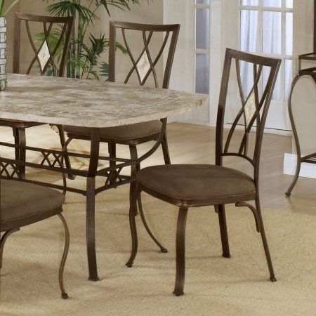 Hillsdsale Brookside Diamond Fossil Back Dining Chair, Set of 2, Brown