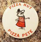 VINTAGE PIZZA HUT PETE OFFICIAL PINBACK BUTTON RESTAURANT COLLECTIBLE Collectibl…