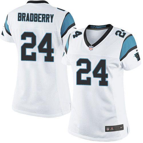 $24.99 Women's Nike Carolina Panthers #24 James Bradberry Limited White NFL Jersey