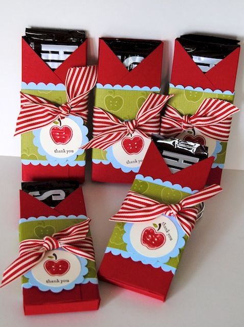 Card Bar Wrappers...Create these simply, yet cute gifts for people in a nursing home around Christmas time as your Community Service Program.
