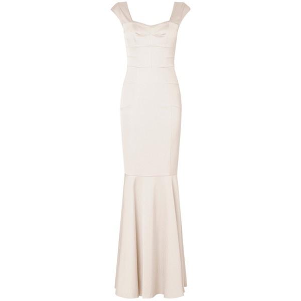 Phase Eight Nicole Structured Wedding Dress, Ivory ($615) ❤ liked on Polyvore