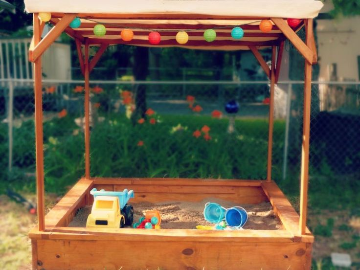 DIY Pottery Barn Inspired Sandbox