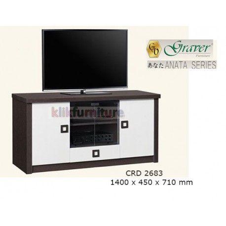 Harga CRD 2683 Graver Anata Condition:  New product  Meja Tv / Bufet Pendek ANATA Series Graver  bahan particle board ukuran 1400 x 450 x 710 mm