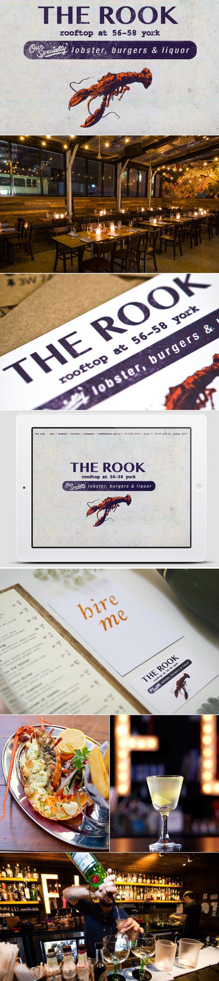 Developed the branding for new Sydney CBD venue: The Rook.