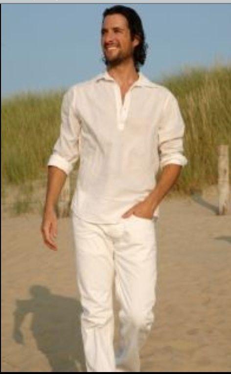 Groom's beach wedding attire