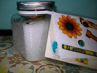 I spy jar resources pinterest color rice for Spy crafts for kids