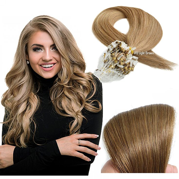 Hair Type Micro ring/Micro loop Hair Colour Light Brown