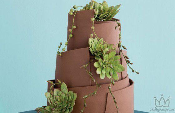 10 Maneiras Criativas de Usar Suculentas em Seu Casamento - Feliz com Pouco