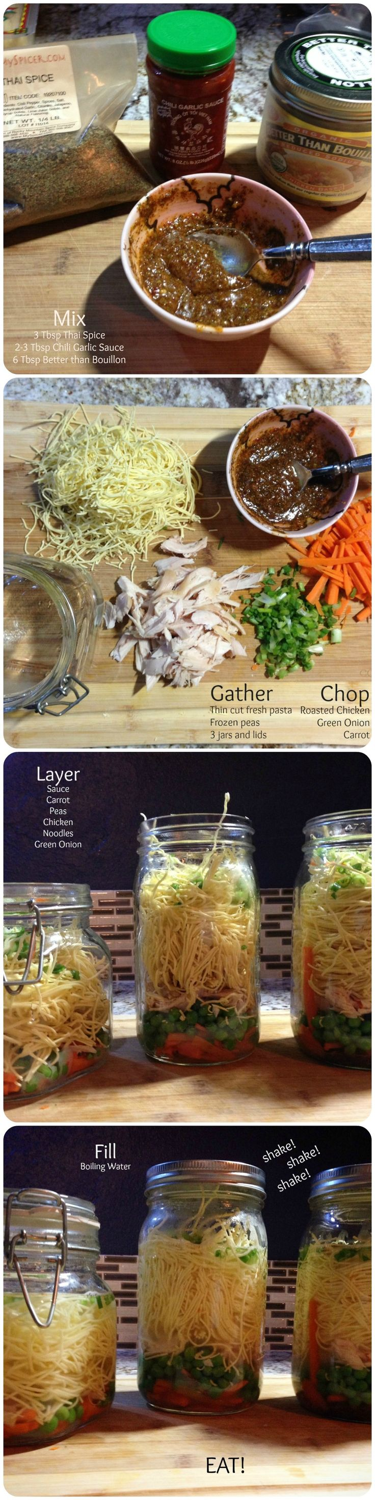 cup of soup, homemade ramen, soup in a jar, great lunch idea, easy dinner, DIY ramen, DIY cup of noodles, www.thesalvagebureau.com