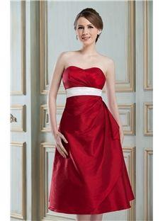 エレガントなAライン膝丈エンパイアウエストの恋人ナディアのホームカミングドレス
