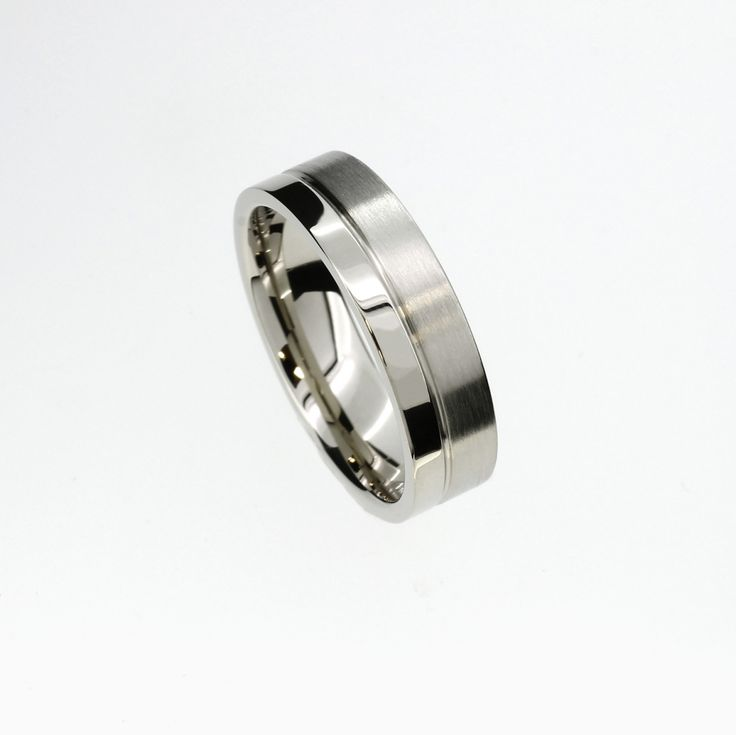 Duro Wedding Band in Palladium