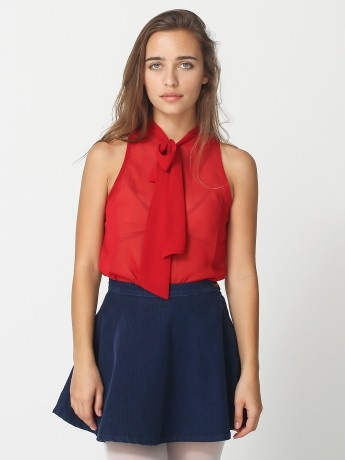 Sleeveless Chiffon Blouse Outfit 99
