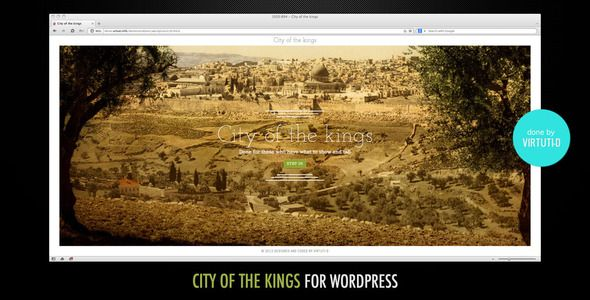 "City Of The Kings–WP Theme With Sliding Intro +RTL   http://themeforest.net/item/city-of-the-kingswp-theme-with-sliding-intro-rtl/5343968?ref=damiamio       ""City Of The Kings"" is a light simple Wordpress.org theme done primarily for personal or small organizations websites. It is very simple in use and set it up takes literally less than 25 minutes.  What it has:   Main content box can be positioned on the left or on the right side (see screenshots)  Suitable for LTR and RTL languages (see…"