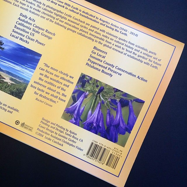 The back of this calendar shows #local #photographer Leslie Curchack's favorite nature inspired #quotes
