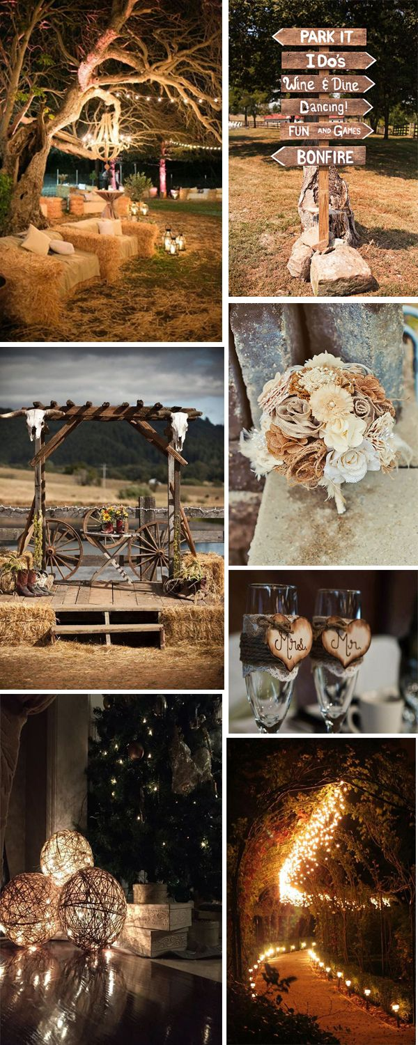 farmland themed wedding  decorations