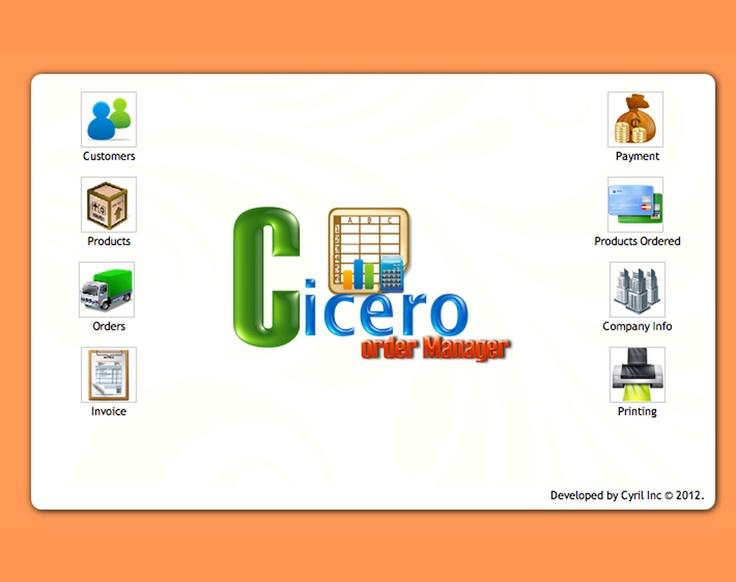 Cicero Order Management System application for desktops and web systems