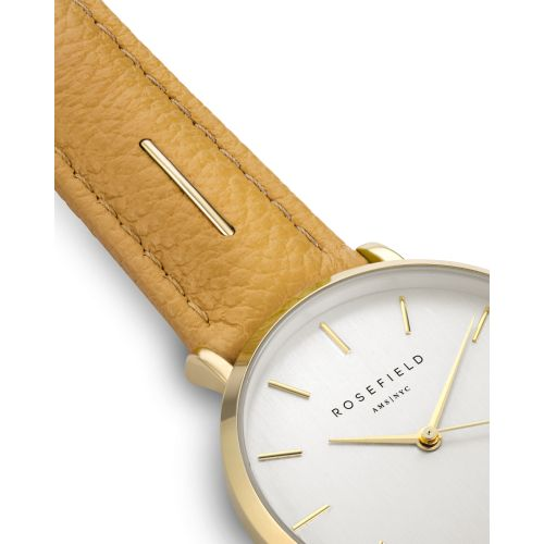 Damenuhr in Gold - gelbes Armband   The September Issue   Rosefield Watches