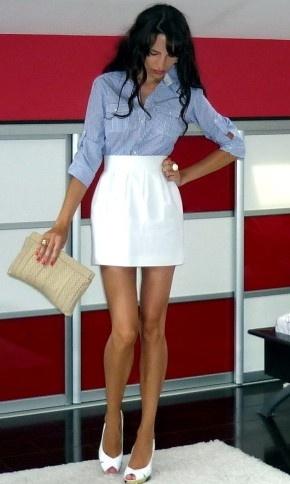 Love the white skirt