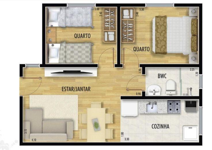 plantas de casas com 30 metros quad rados - Pesquisa Google