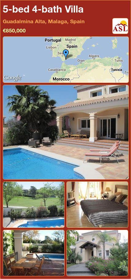 5-bed 4-bath Villa in Guadalmina Alta, Malaga, Spain ►€850,000 #PropertyForSaleInSpain