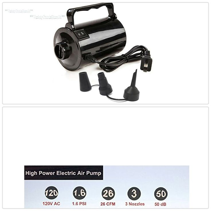 Electric Pump Air Inflator Inflatable Pool Toys Airbeds Nozzles Portable Power #…