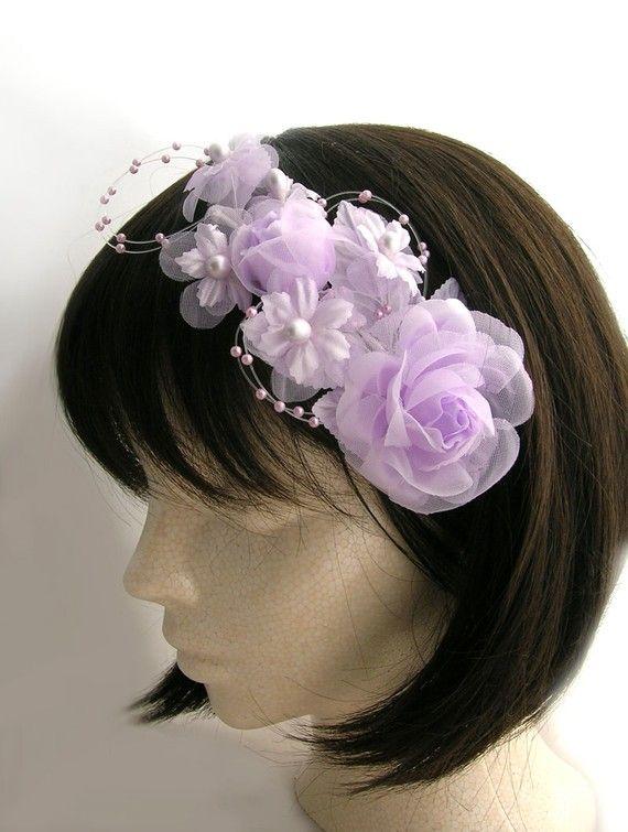 Bride or Bridesmaid  head piece  Lavender rose by CastleMemories, $12.00