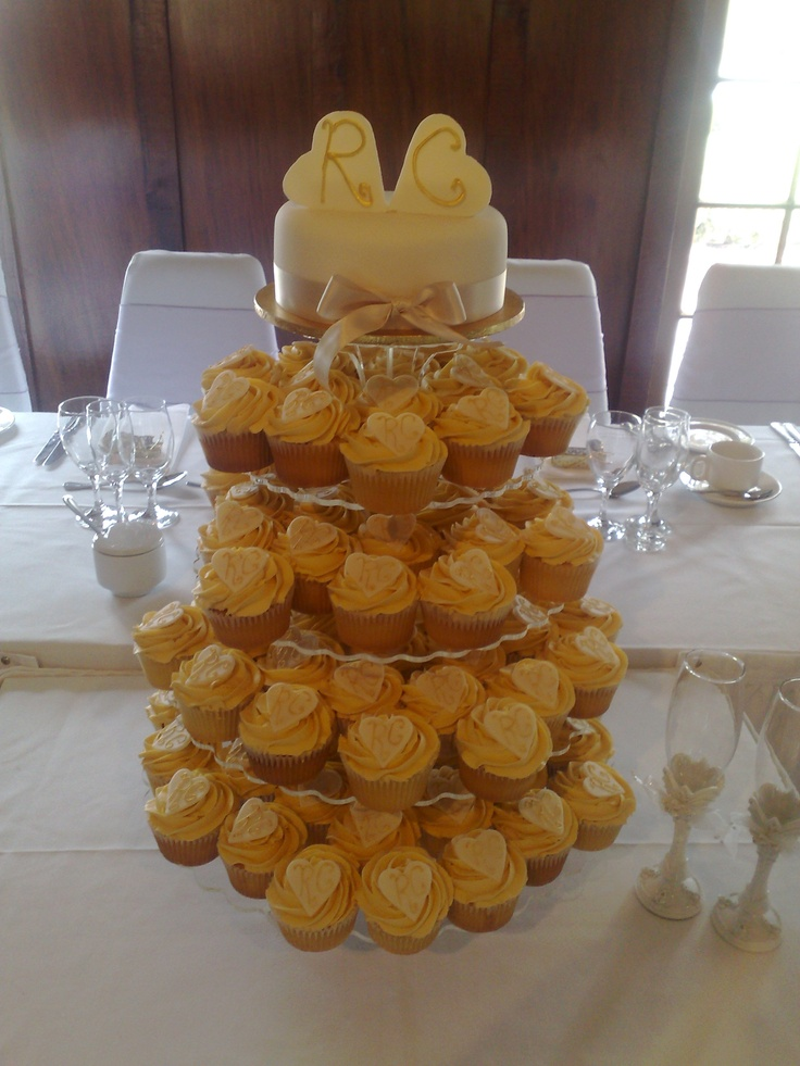 Wedding cupcakes with initials