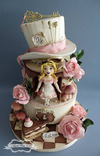 534 Best Images About Alice In Wonderland Cakes On